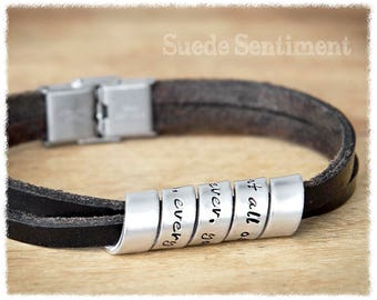 Mens Personalized Jewelry • Mens Bracelet • Dad Gifts • Anniversary Gifts For Men • Gift For Boyfriend