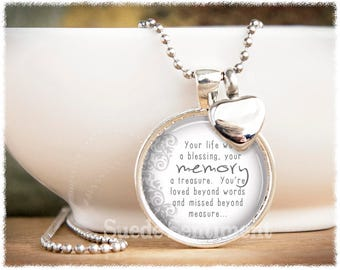 Loss Of Loved One • Cremation Jewelry • Urn Necklace • Memorial Gift • Loss of Friend • Remembrance Jewelry