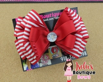 red /white boutique  bow