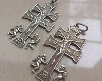Caravaca cross. Sterling silver. Second hand.