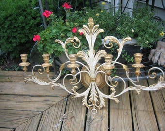 vintage italian 6 candle wall sconce
