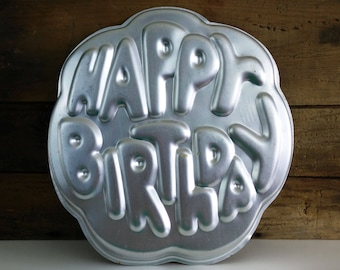 Vintage Wilton Cake Pan - Happy Birthday