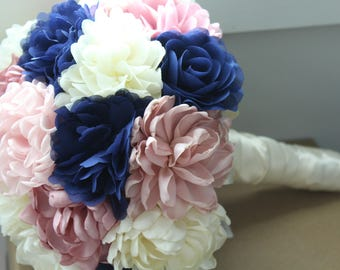 Bridal Fabric Brooch Wedding Bouquet /  Brooch Bouquet