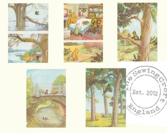 Winnie the Pooh Classic Illustration Downloads Set of 5 E H Shepard Illustrations