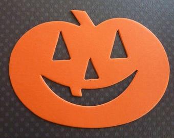 50 Pumpkin Jack-O-Lantern Halloween Decor Die Cut Paper Shape Tags Scrapbook Card Banner Craft Kit DIY Supply Lot