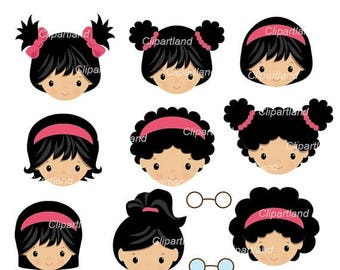 ON SALE INSTANT Download. Cg_1_girl. Girl icons clip art. Personal and commercial