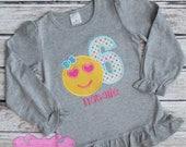 Emoji Birthday Shirt, Girls Birthday Shirt, Emoji Birthday Party, Emoji Shirt, Numbers 1-9 Available, Made to Order