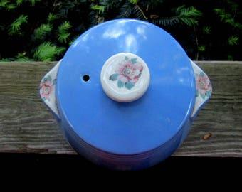 Hall blue rose parade cookie jar, storage container
