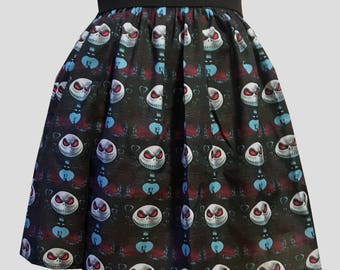 Jack Skellington Faces Full Skirt