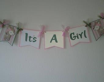 It's A Girl Deer Banner- Baby Girl Deer-Baby Girl Deer Shower