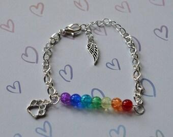 Biolojewelry - Rainbow Bridge Pet Loss Bracelet