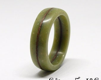 Size 5 US, Green ring, Olive green, Small ring, Wood ring, Wooden ring, Corian ring, Resin ring, Women ring, Ring for girl, Promise ring