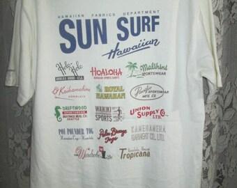 Vintage SUN SURF Toyo ent Hawaii Aloha T-Shirt Made In Usa
