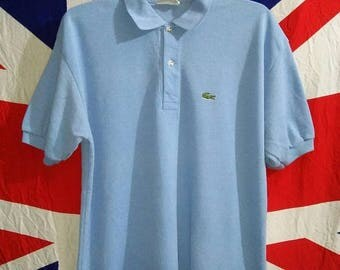 50% Off Vintage Chemise Lacoste 1970s Retro Polo Shirt made in France