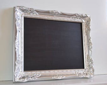 Antique Baroque Style Wedding Framed Chalkboard 11x14 inches inside Wedding Prop Wedding photo frame menu board kitchen decor