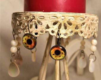 bronze earrings the EYE