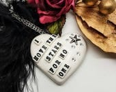 Labyrinth Necklace, David Bowie, The Goblin King, glitter heart necklace