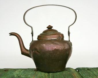 Antique Italian copper kettle