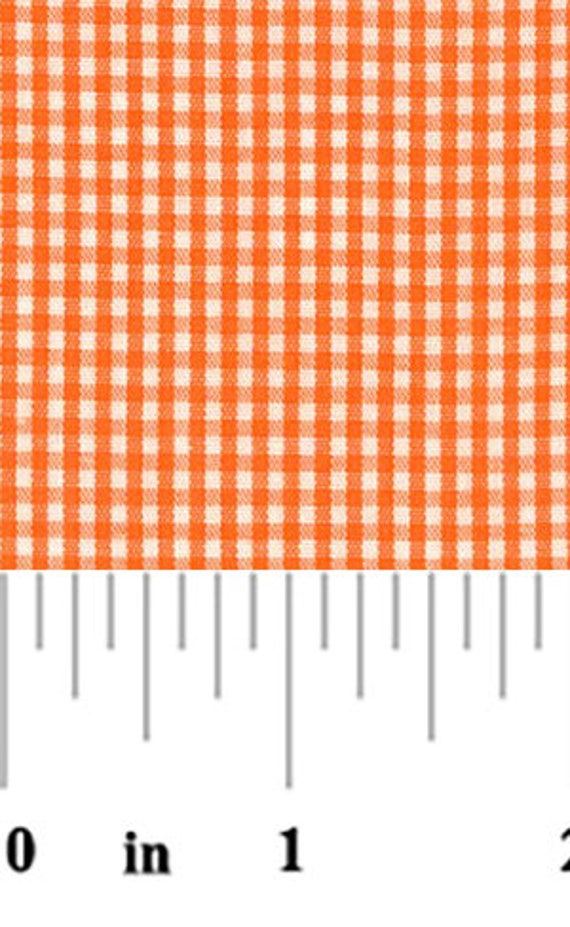 High Quality Fabric Finders Orange Gingham Fabric – 1/16″. Perfect for Quilting, Clothing and Craft Projects!