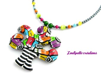 "Chic necklace ""Tree of life multicolored"""
