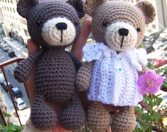 Baby Bear-Instant Download Crochet Pattern-Toy Teddy Bear-Crochet Amigurumi Bear Pattern-DIY Crochet Toy-Stuffed Toy Animal-Small Bear