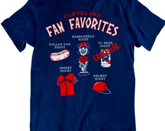 Cleveland Indians T-shirt, 10 Cent Beer Night, Fan Favorites, Indians Fan Tribe Baseball shirt Indians game Cleveland gift shirt