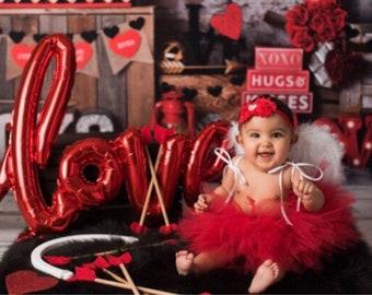 Baby Red Tutu skirt