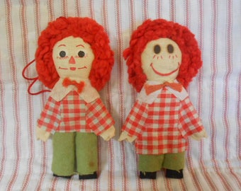 Raggy Ann and Andy Vintage Christmas Ornaments