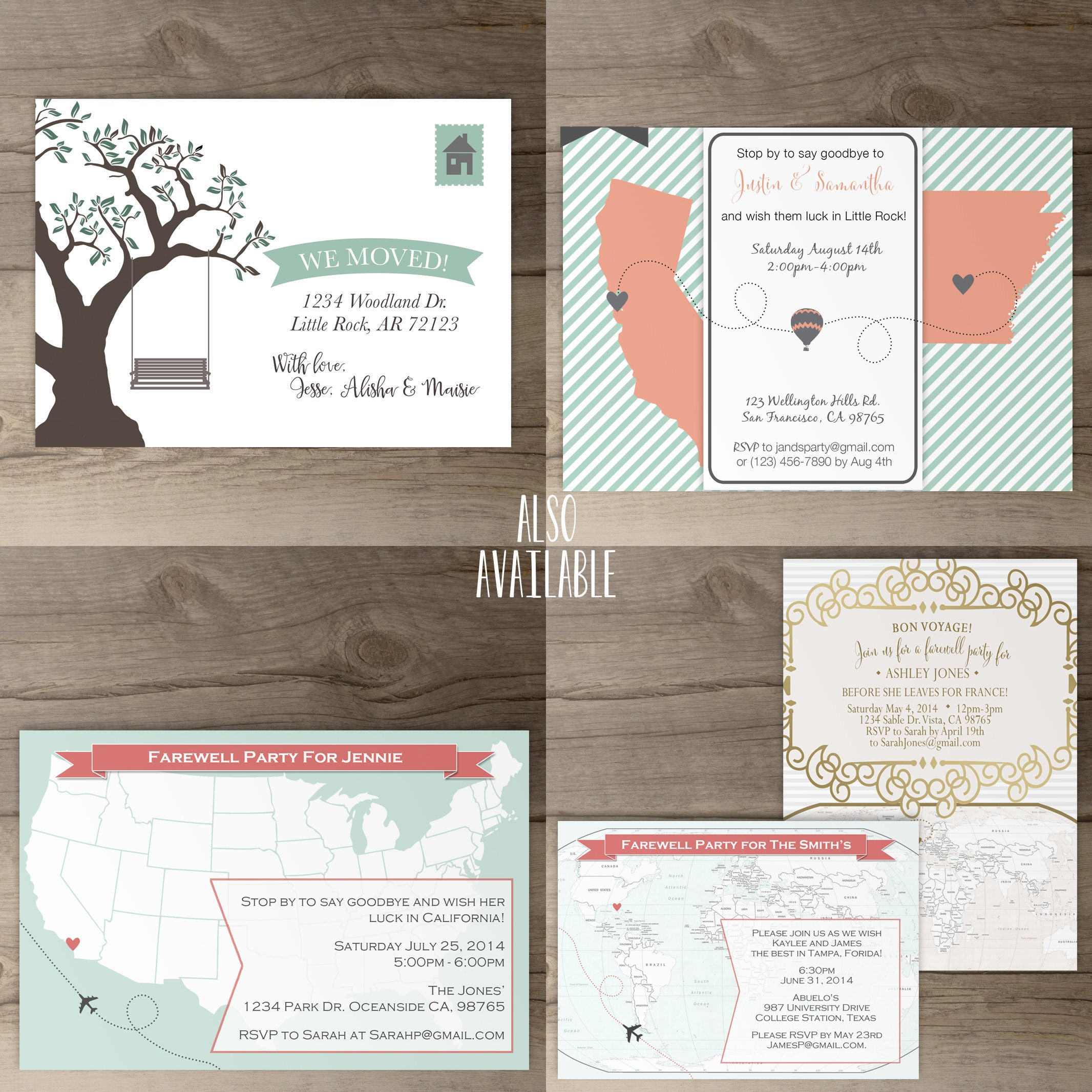 Moving / Going Away Party Invitations / Invites / Announcements ...