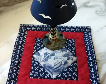 Anchors Away Quilted Table Topper