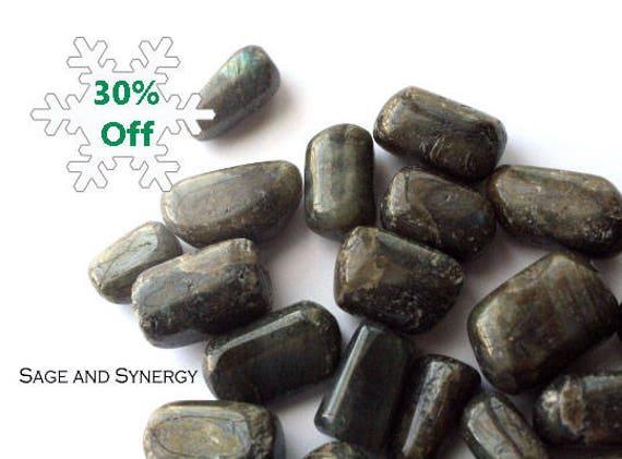 Tumbled Labradorite Imagination Intuition Green Stone Polished Crystal Healing Metaphysical