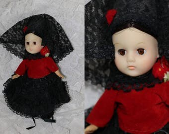 "Vintage Ginny Doll - Vogue - Vinyl - ""Spain""  - 8 Inch"