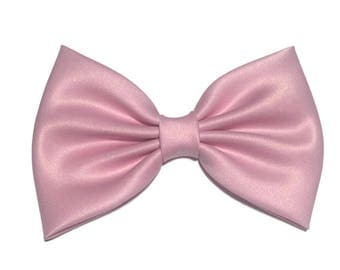 Light Pink Hair Bow, Satin Hair Bow Clip, Bows For Women, Kawaii Bows, Handmade Bow, Satin Fabric Bow, Lolita, Big Bow, Baby Girl Bow, ST012
