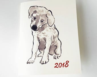 Year of the Dog Chinese New Year Card, set of 8
