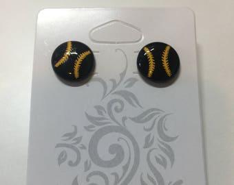 Bead Baseball Earrings