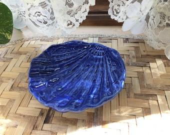 Handmade Trinket - Condiment Dish in Cobalt Blue