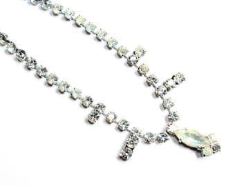 Articulated Rhinestone Diamante Sparkly Vintage Necklace (c1960s) - Wedding