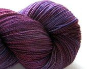 "SALE Hand Dyed Sock Yarn - Fiona Helix ""Fat""  Crimson Rambler"