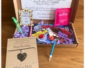 Birthday Care Box, Self care, Wish Bracelet, Mental health Tiny Care Box, Love, Birthday candle, Thinking of you, Happy Birthday, Cupcake