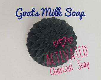 Charcoal Soap, activated charcoal, Goats Milk Soap, organic, acne soap, dry skin soap, all natural soap, essential oil soap, facial soap