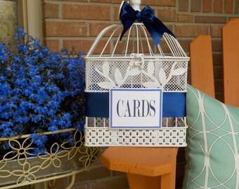 White Bird Cage Wedding Card Holder, Wedding Supplies, Shower Card Holder, Bridal Shower Bird Cage, Bridal Shower Decor, Baby Shower Cards