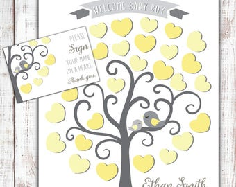 Baby Shower Guest Book Alternative, Custom Poster Personalized Print, Baby Shower Decoration, Baby Girl Boy Signature Sign, DIGITAL PRINT