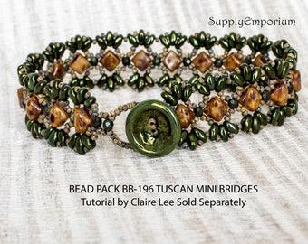 Bead Pack BB-196 Tuscan Mini Bridges Bracelet, Tutorial by Claire Lee Sold Separately, BB196 Mini Bridges Bracelet Bead Pack