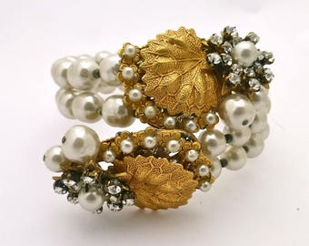 "Miriam Haskell ""Pearl"" Wrap Bracelet"