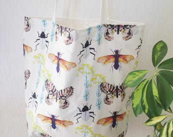 Large Lined Shopping Tote Bag