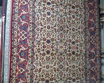 SUMMER CLEARANCE 1960s Vintage Hand-Knotted Isfahan-Najafabad Persian Rug (3478)