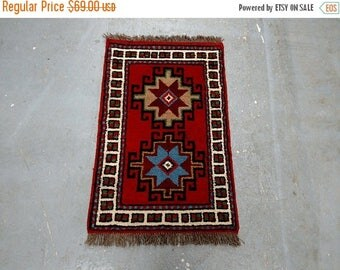 SUMMER CLEARANCE Persian Rug - 1980s Hand-Knotted, Vintage Ghouchan Rug Runner (3687)