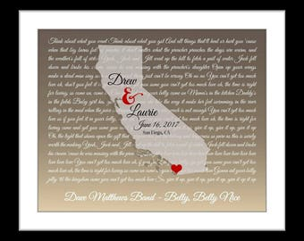 Wedding gift, california map art print, wedding song wall art, vows, song lyrics, poem, custom home decor, unique anniversary gift