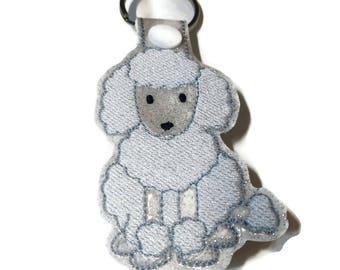 Poodle Key Fob Key Chain, dog mom gift, dog dad gift, fur mom,poodle lover gift