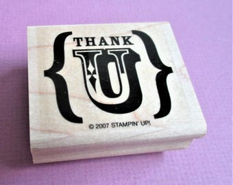 Thank U Stamp Thank You Note Stationary Supply Card Making Quotation Papercraft Rubber Stamp Scrapbook Planner Supply DIY Notepaper Quote